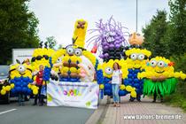 Minions aus Luftballons beim Erntefest
