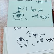 うちのパートの画伯が書いた名画です👏