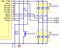 ダイオードアレーを用いたADコンバータ用保護回路