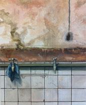was bleibt ... 2015, Acryl- und Ölfarbe auf Leinwand, 80x65