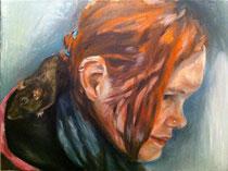 """""""Sabrina und Sahara"""" 2011, Öl auf Leinwand,"""