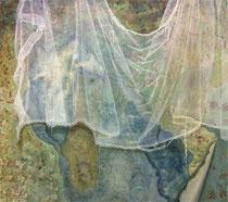 was bleibt ... 2015, Acryl- und Ölfarbe auf Leinwand, 100x110