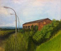 was bleibt ... 2016, Acryl- und Ölfarbe auf Leinwand, 120x140