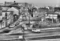 1970s - Newtown Row crosses the photograph left-to-right;  Aston Brook Street is in the centre of the picture.  - Photograph reproduced with the kind permission of the late Keith Berry. All Rights Reserved.