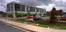 Shard End Shopping centre rebuilt c2011 - image from Bing Maps Streetside