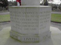 Yardley Cemetery war memorial