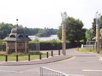 Brookvale Lake, south entrance. © Copyright Adrian Bailey and licensed for reuse under a Creative Commons Licence. Geograph OS reference SP0990 - see Acknowledgements for a direct link to that site.