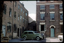 No.7 Whittall St, Andertons Square 1960. The yard of Parker Hale Ltd gunmaker's workshop, formerly the home of an 18th-century toymaker. Photograph by Phyllis Nicklin - See Acknowledgements, Keith Berry.