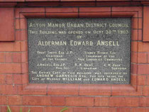 Aston Cross Library foundation stone