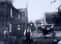 The Firs farmhouse with farmer Mr Bosworth  - date unknown