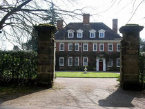 Carhampton House, Luttrell Road. The gateposts are believed to be those of Four Oaks Hall.