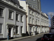 19th-century houses at the top end of Bennetts Hill