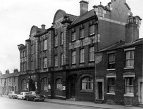 Bloomsbury Street police station in 1966; photograph 'All Rights Reserved' reused here by kind permission of Carl Chinn from his BirminghamLives website. See Acknowledgements.
