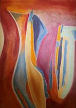 Ohne Titel 1, 2014, Pastell auf Papier, BxH 42x60 cm