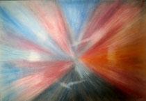 Nordlicht 4, 2014, Pastell auf Papier, BxH 60x42 cm