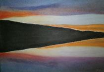 Hallwilersee, 2013, Pastell auf Papier, BxH 48x36cm