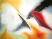 Wuchtig, 2013, Pastell auf Papier, BxH 48x36cm