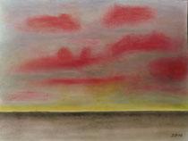 Horizont, 2012, Pastell auf Papier, BxH 48x36 cm