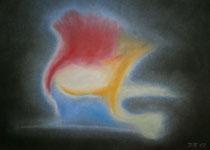 Wow, 2013, Pastell auf Papier, BxH 48x36cm