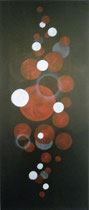 Kreise, 2016, Acryl auf Leinwand, BxH 30x70 cm