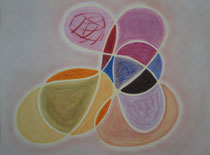 Mit Schwung, 2013, Pastell auf Papier, BxH 48x36cm
