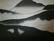 Im Nebel, 2014, Pastell auf Papier, BxH 60x42 cm