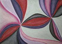 Rosetten, 2016, Pastell auf Papier, BxH 60x42 cm