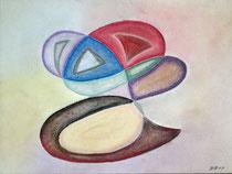 Schwungvoll, 2013, Pastell auf Papier, BxH 40x30cm