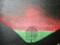 Der Baum, 2016, Acryl auf Leinwand, BxH 40x30 cm