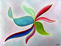 Schwungvoll, 2012, Pastell auf Papier, BxH 40x30 cm