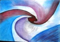 Tornado, 2015, Pastell auf Papier, BxH 60x42cm