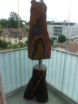 Jahrringe 2004; Acryl auf Holz; Grösse BxH  45x195 cm