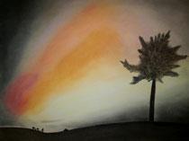 Nordlicht 1, 2014, Pastell auf Papier, BxH 60x42 cm