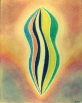 Aufstrebend, 2012, Pastell auf Papier, BxH 40x50 cm
