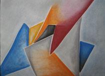 Zackig, 2016, Pastell auf Papier, BxH 60x42 cm
