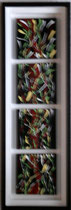Farb-Spuren, 2016, Acryl auf Leinwand Rahmen mit Schattenfugen, BxH 25x75 cm