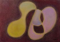 Annäherung, 2012, Pastell auf Papier, BxH 30x21 cm