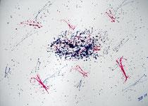 Spritziges Trio-03  2011; Aquarell auf Papier; BxH  40x30 cm