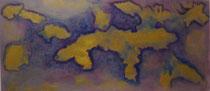 Goldig, 2016, Acryl auf Hartfaserplatte, BxH 81x37 cm