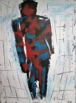 Der Mann, 2016, Mischtechnik auf Leinwand, BxH 30x40 cm