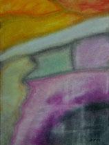 Nebulös, 2012, Pastell auf Papier, BxH 30x40 cm