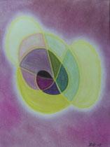 Hell bis Dunkel, 2012, Pastell auf Papier, BxH 30x40 cm