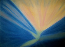 Nordlicht 5, 2014, Pastell auf Papier, BxH 60x42 cm