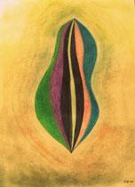 Abgehoben, 2012, Pastell auf Papier, BxH 50x70 cm