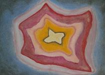 Zackig, 2013, Pastell auf Leinwand, BxH 70x50cm