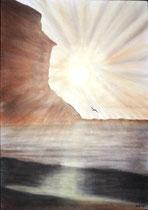 Sonne pur, 2015, Pastell auf Papier, BxH 42x60cm