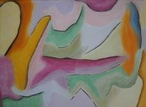 Ohne Titel 2, 2013, Pastell auf Leinwand, BxH 70x50cm