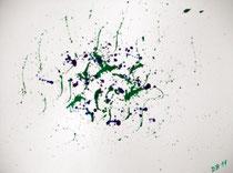 Spritziges Trio-02  2011; Aquarell auf Papier; BxH  40x30 cm