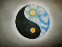 Yin Yang, 2014, Pastell auf Papier, BxH 60x42 cm