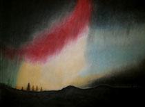 Nordlicht 2, 2014, Pastell auf Papier, BxH 60x42 cm